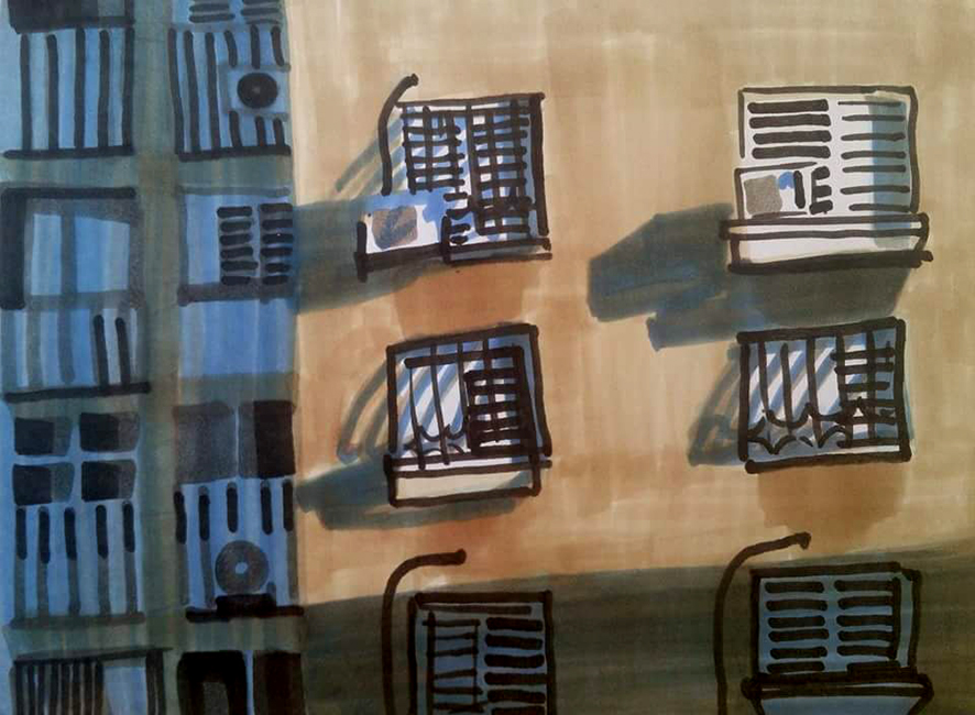 בניין באור, שיחות על אמנות וסופי וחסן, 2015